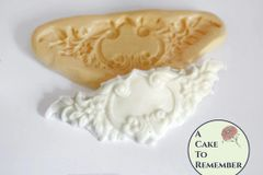 Small floral swag silicone mold for cake decorations M5033