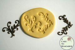 Vining leaves scrollwork mold for resin M5010