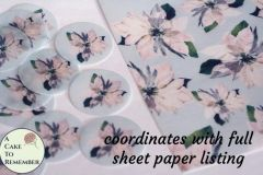 "12 white edible wafer paper poinsettias for cookie decorating, 2"" circles."