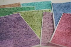 3 full sheets knit patterned printed wafer paper for cake decorating. Free U.S. shipping