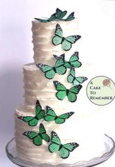 12 green monarchs birthday cupcake toppers edible butterflies.