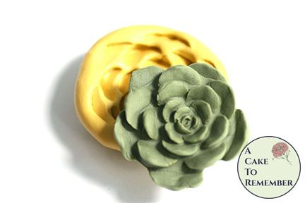 2 inch silicone succulent mold for cake decorating or polymer clay. M5155