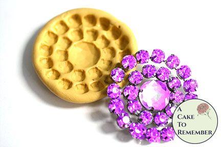 Silicone rhinestone brooch mold. M5160