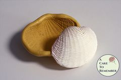 3 inch silicone seashell mold for cake decorating or polymer clay. M5163