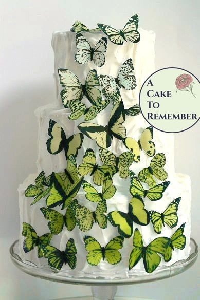 30 yellow ombre edible butterflies for cupcake toppers