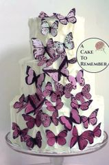 30 pink ombre wafer paper edible butterflies for cake decorating and cupcake decorating.