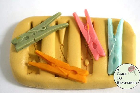 "2"" Silicone clothespin mold clay craft supplies M5068"