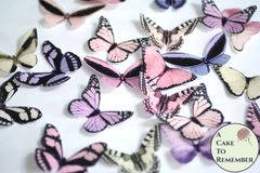 20 pink, yellow and lavender edible butterflies for cupcake toppers