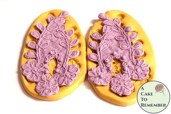 Beaded flower and leaf elegant lace mold set M5179