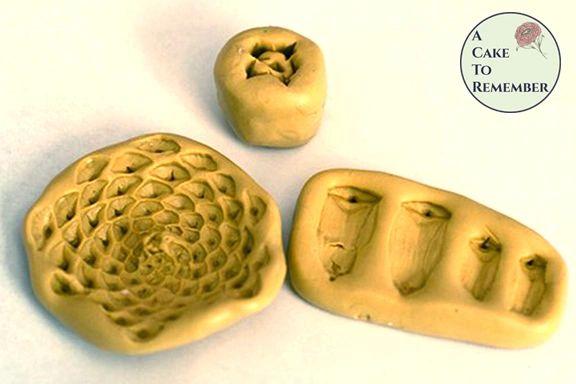Flexible silicone pine cone mold set.