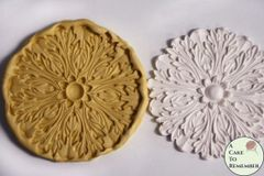Large round acanthus leaf medallion silicone rubber mold M5008