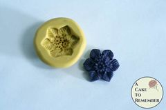 "3/4"" floral cabochon flexible silicone mold M5209"