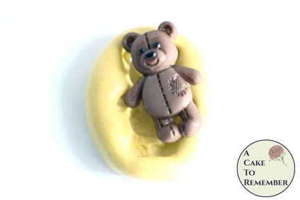 "1"" mini mold standing teddy bear flexible silicone mold M5208"