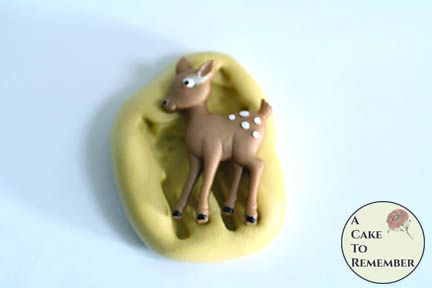 Little deer mini food grade silicone rubber mold M5205