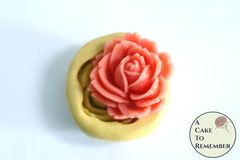 Small rose mini food grade silicone rubber mold M5219