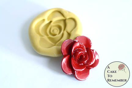 Little rose miniature food grade silicone rubber mold M1108