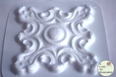 Hard plastic large architectural medallion mold