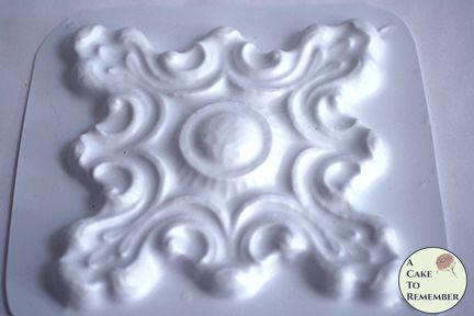 Hard plastic large architectural medallion mold