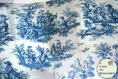 3 full sheets blue toile de jouy patterned printed wafer paper for cake decorating. Free U.S. shipping