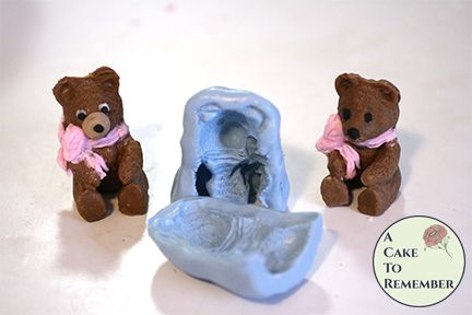 3D teddy bear silicone mold for cake toppers