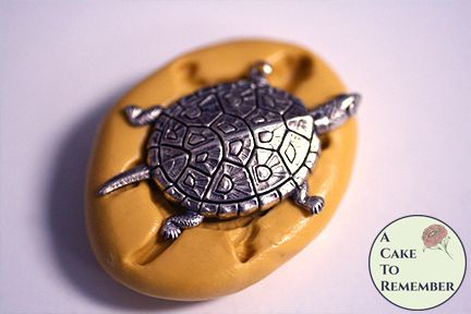 "1.5"" long turtle silicone mold for resin casting M5232"