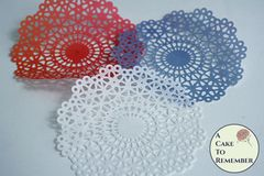"6"" edible doily, wafer paper doilies for cakes"