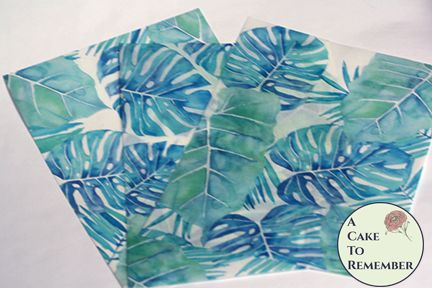 Watercolor palm leaf edible wafer paper- 3 sheets