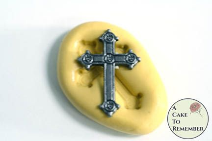 Little cross miniature food grade silicone rubber mold M1028