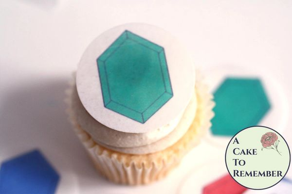 12 video game jewel coins for cupcake toppers