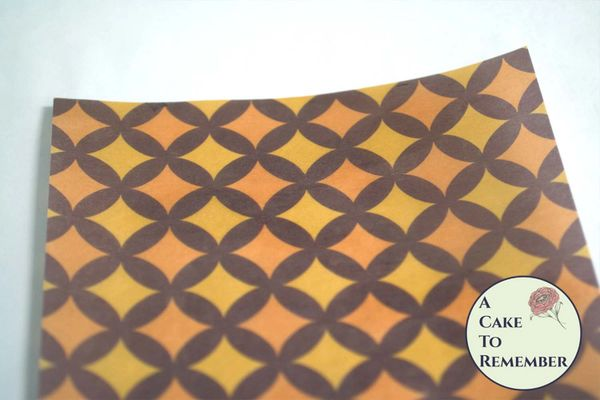 Autumn colors rings edible wafer paper- 3 sheets