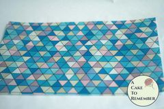 Blue triangles edible wafer paper- 3 sheets