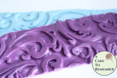 Swirl style texture mat for soapmaking or for fondant borders