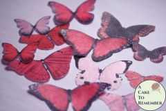12 large red wafer paper edible butterflies for cupcakes
