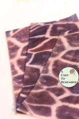Animal print edible giraffe wafer paper, 3 sheets