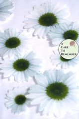12 white daisies edible flowers wafer paper cupcake toppers