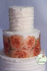 Orange roses edible wafer paper cake wraps