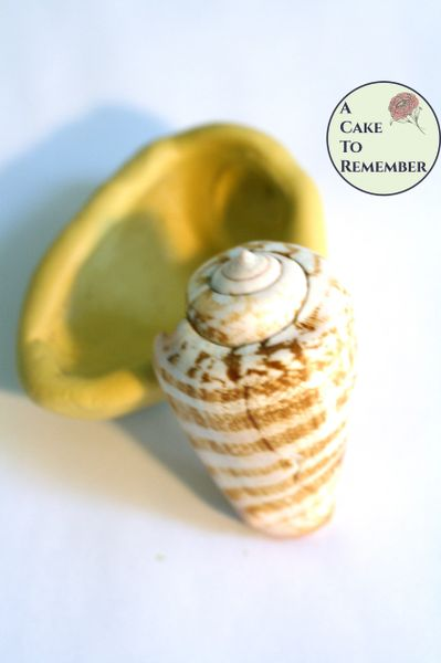 Silicone alphabet cone seashell mold for cake decorating. M5262
