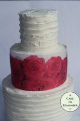 Red roses edible wafer paper cake wraps