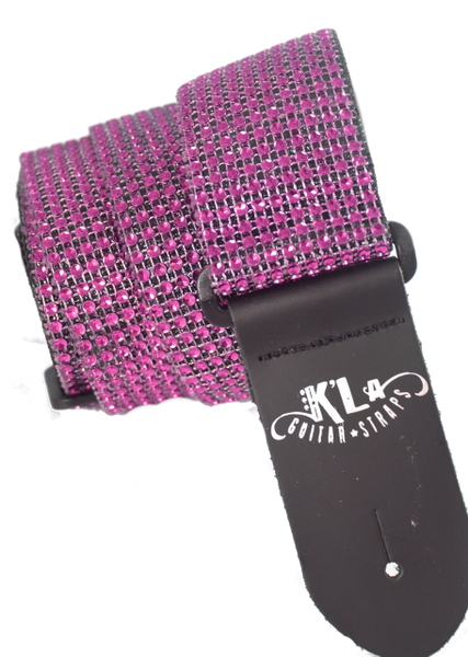 Signature Bling Guitar Strap (Hot Pink)