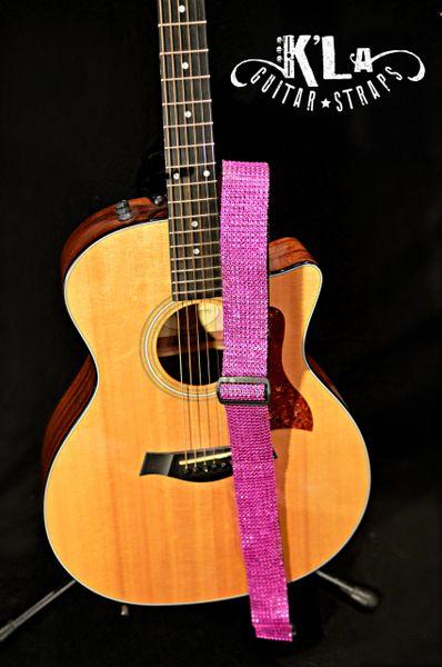 Signature Bling Guitar Strap (Hot Pink)