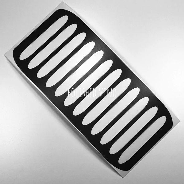 Vinoswatch Makeup Stencils Ovals2 Polished Vino