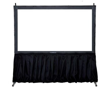 Front/Rear Projection Screen with skirting