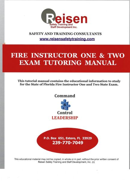 Fire Service Instructor I & II Exam Tutoring Manual