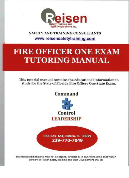 Fire Officer One Exam Tutoring Manual