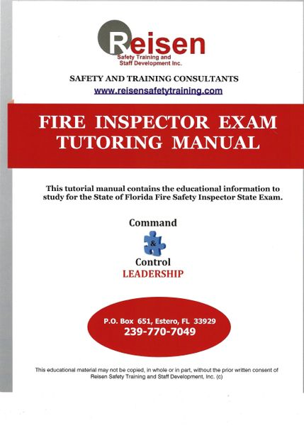 Fire Inspector I Exam Tutoring Manual