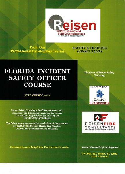 Florida Incident Safety Officer Course PowerPoint Manual