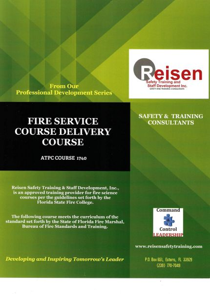 Fire Service Course Delivery Course PowerPoint Manual