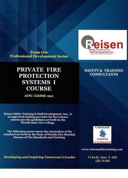 Private Fire Protection Systems I Course PowerPoint Manual