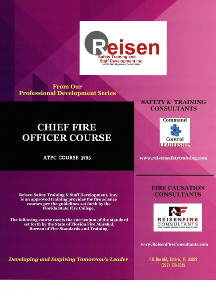 Chief Fire Officer Course PowerPoint Manual