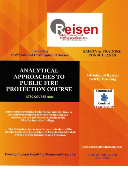Analytical Approaces to Public Fire Protection Course PowerPoint Manual